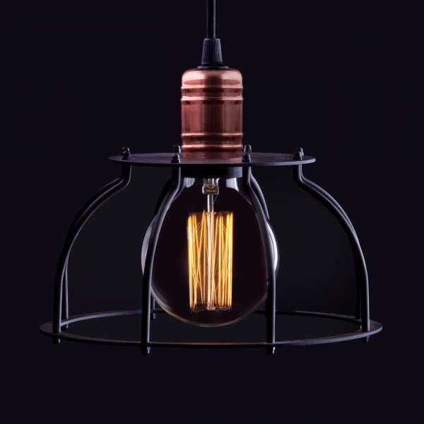 LAMPA wisząca WORKSHOP 6335 Nowodvorski industrialna OPRAWA ZWIS pręt drut miedź czarny