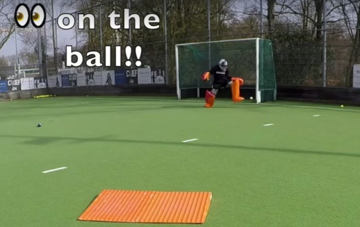 Take a look at Team GB's Maddie Hinch during a goalkeeper's training session. In this case we can watch her
