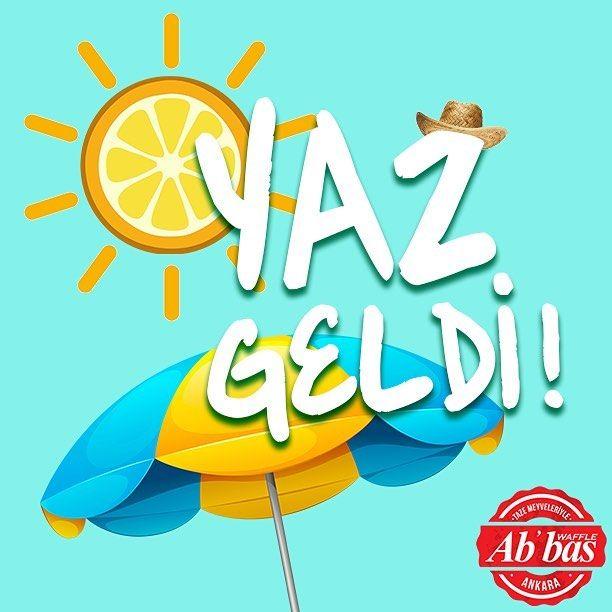 Karşınızda yaz; yılın enerji dolu, kıpır kıpır mevsimi!  #AbbasWaffleAnkara #1Haziran #YazGeldi