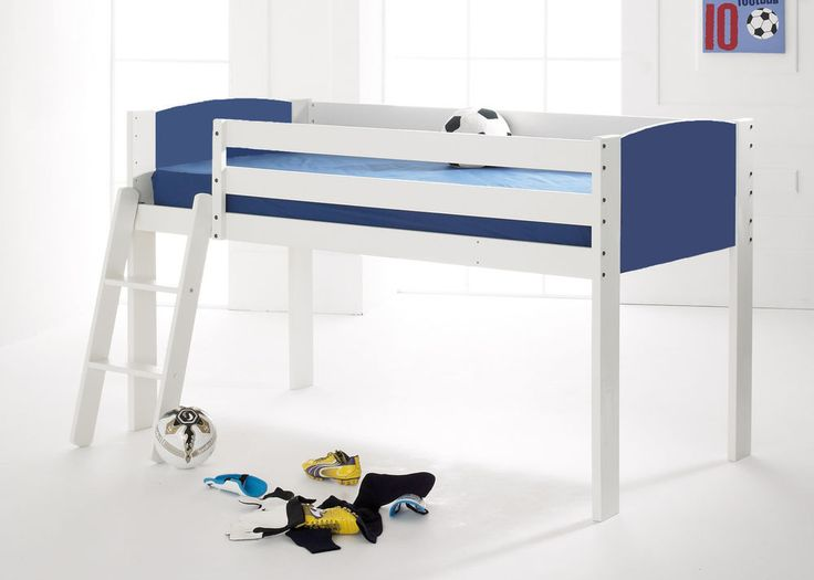Shorty Cabin Mid Sleeper Bed White Frame End Panels In 4 Colour Options Home Furniture DIY Childrens