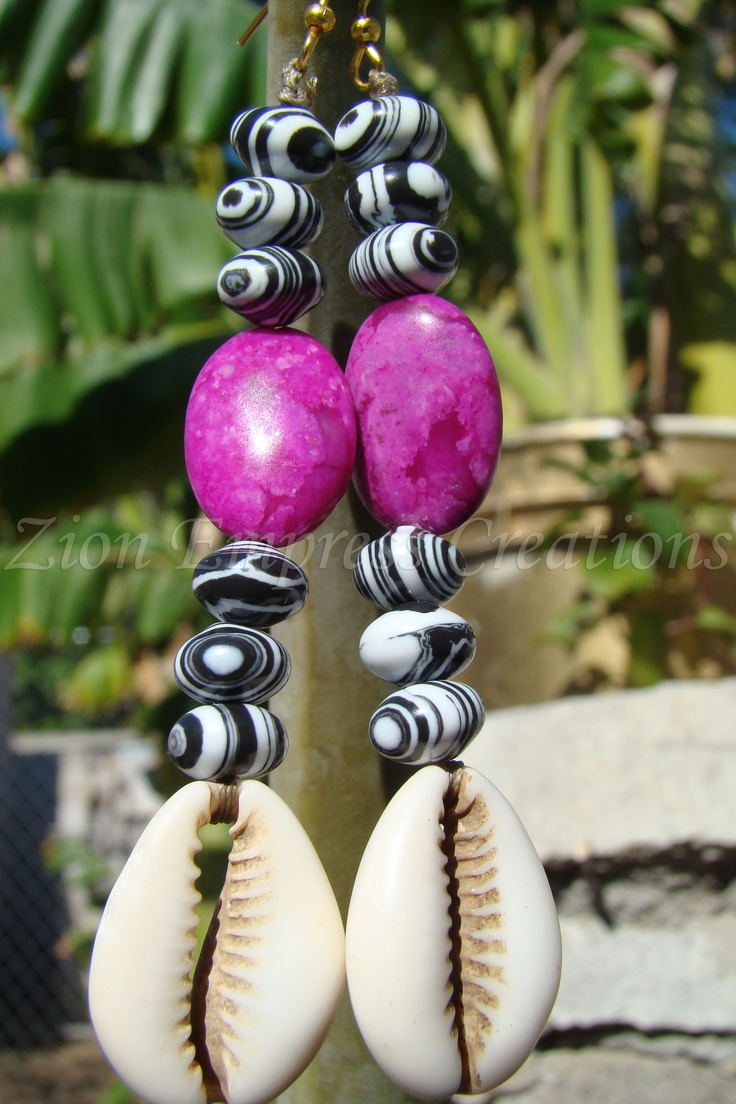 (The 80's) cowrie earrings-get them@ http://healingherbsbyrene.weebly.com/renes-jewlery--art-shop.htmlCowrie Earringsget