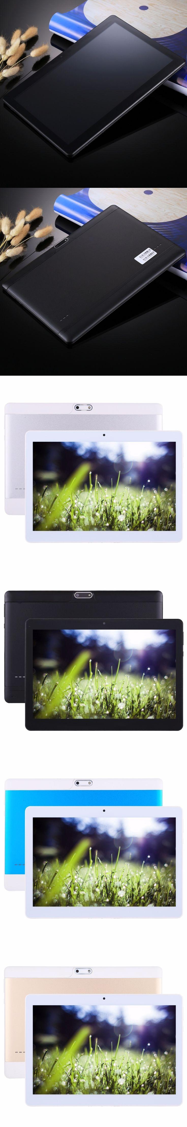 "10.1"" 3G Phone Call Tablet PC 1GB 16GB / 2GB 32GB Android 6.0 10.1 inch Tablet MT6580 Quad Core Support OTG GPS FM WiFi Dual SIM"