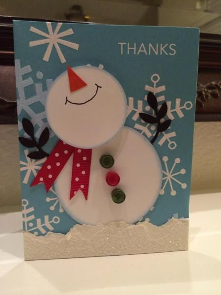 Smiley Snowman by 1crzystamper - Cards and Paper Crafts at Splitcoaststampers    Too cute!
