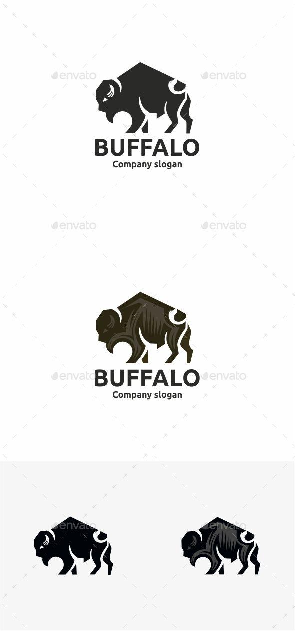 Buffalo Logo Design Template Vector #logotype Download it here: http://graphicriver.net/item/buffalo-/11093892?s_rank=1081?ref=nesto