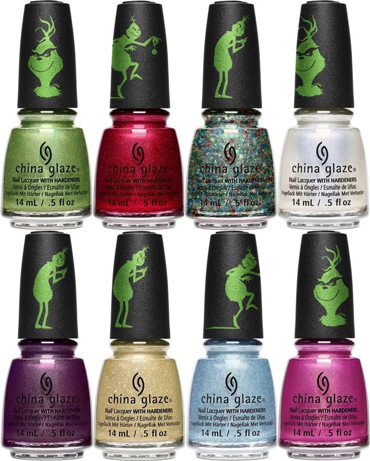 China Glaze The Grinch Nail Lacquer Collection For Holiday 2018 2018 Fall Winter Beauty