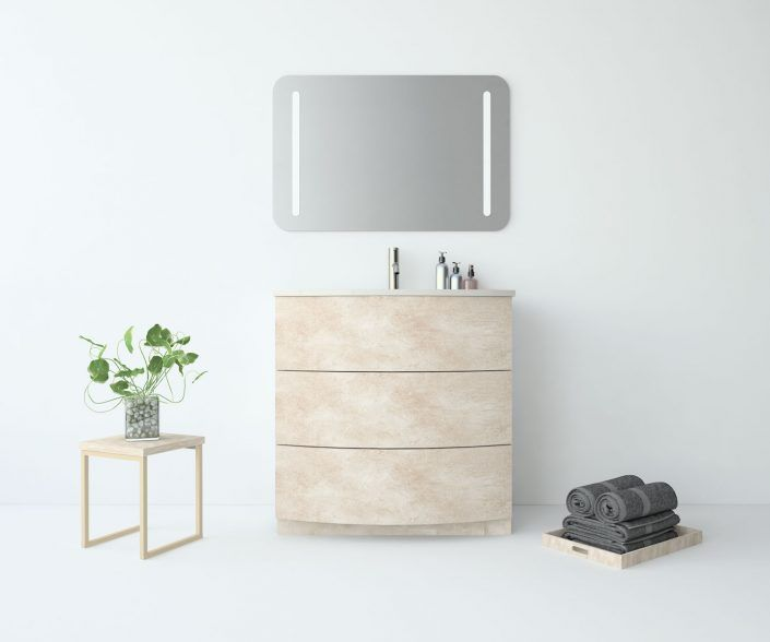 Muebles de baño, propuestas de composiciones para conseguir amplitud en el almacenaje: cajones, puertas correderas, abatibles, huecos vistos, etc. unibaño-compactos-almacenaje-23