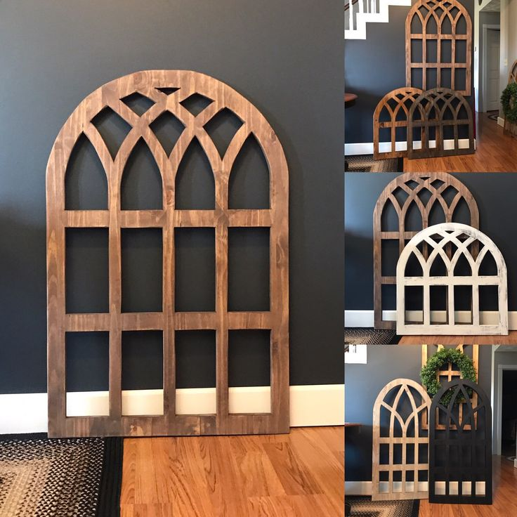 """Excited to share the latest addition to my #etsy shop: Arch Wood Window Wall Decor 36"""" X 48"""" 3/4"""" Quality Maple Lumber, Living Room Decor, Farmhouse Style, Farmhouse decor #homedecor #housewares http://etsy.me/2Du4CGC"""