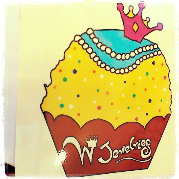 W jewelries Cup cake sticker :)  You can get this when you order our jewelries!  #Wjewelries #sticker #cup cake #tasty #jewelries