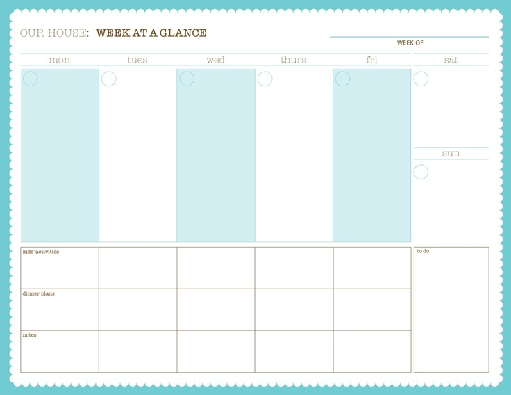 17 best Calendar weekly images on Pinterest Calendar ideas - weekly checklist