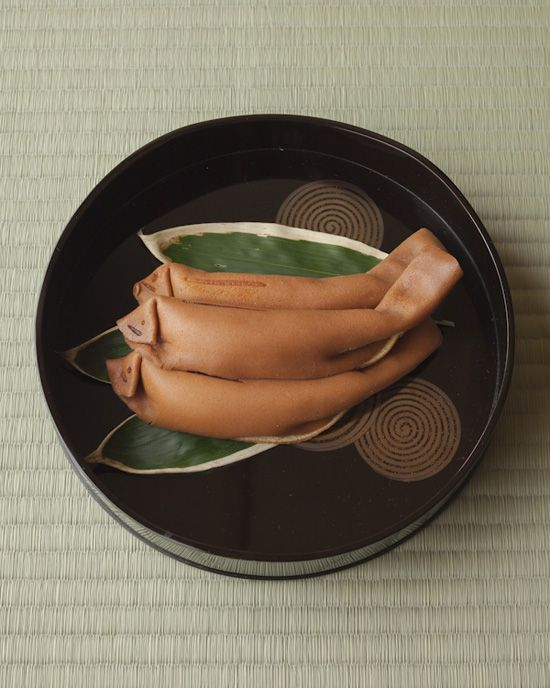 Japanese sweets -Kiccho Ayu- on the Makie lacquer tray from Edo period (1586~1911), Japan