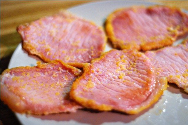 The REAL Canadian bacon! Yummy goodness!