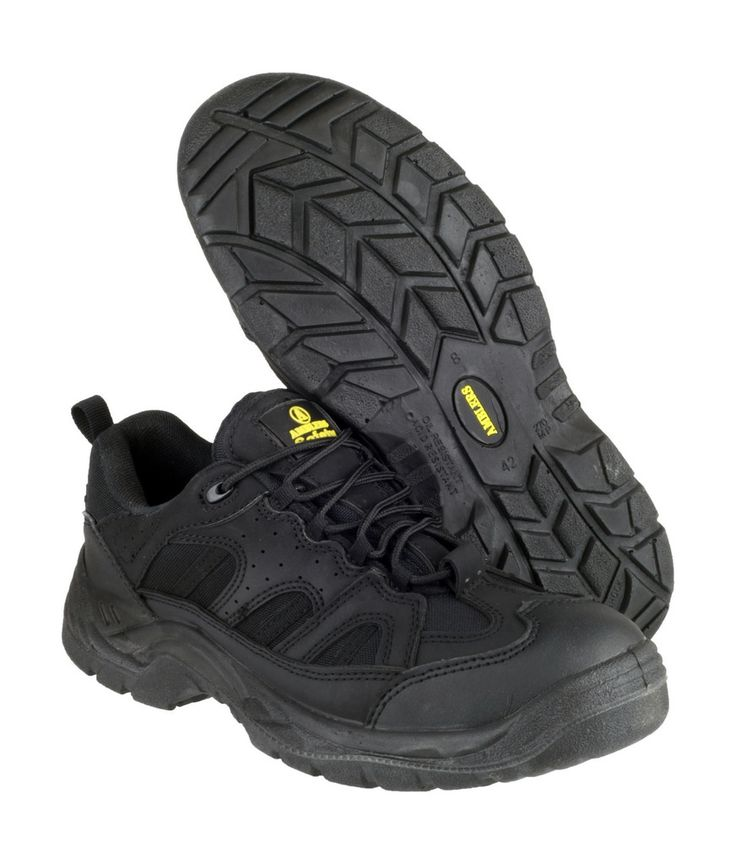 AMBLERS SAFETY - FS214 BLACK SAFETY - MENS - BLACK • Safety trainer • Steel toe cap and steel midsole • Single density PU Sole • Pull on loop • Conforms to ISO20345 Safety Footwear Standards  Safety trainer. Steel toe cap and steel midsole. Single density PU Sole. Pull on loop. Conforms to ISO20345 Safety Footwear Standards. Safety Footwear Category: SB-P. Toe protection tested to 200 joules impact Penetration resistant midsole tested 1100 newtons. Passes SRA Slip Resistance Standards.