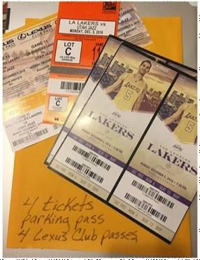 Check out these GREAT Silent Auction Items! Last date to bid is Nov. 28th! Includes 4 tickets to Dec. 5 LAKERS game vs Utah Jazz with Lexus Club and parking! Retail Value $700.00! http://www.similibraryfriends.org/shop