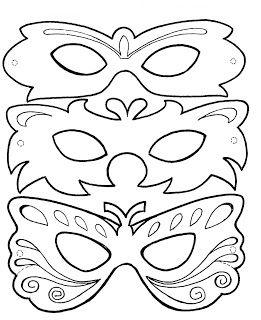 Modelo e molde de máscara de carnaval ~ Arte De Fazer | Decoração e Artesanato