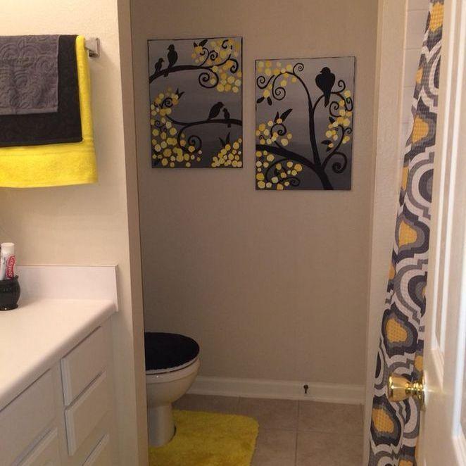 32 Beautiful Yellow White Bathroom Ideas At A Glance 178 Homecenterrealty Com Black Bathroom Decor Bathroom Red Yellow Bathrooms