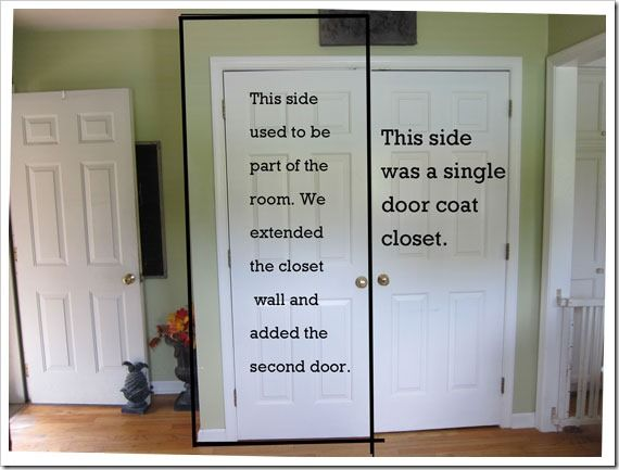 Creative Ideas For Closet Doors curtain panel tension rod replaces bi fold doors on closets i How I Transformed A Coat Closet Into A Pantry