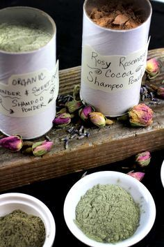 DIY Herbal Dry Shampoo Powder   Can use on pets too - omit the essential oils Dry pet shampoos can also have other powdered herbs like mints, rosemary, chamomile