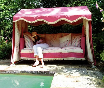 Beautiful Garden Glider with Canopy