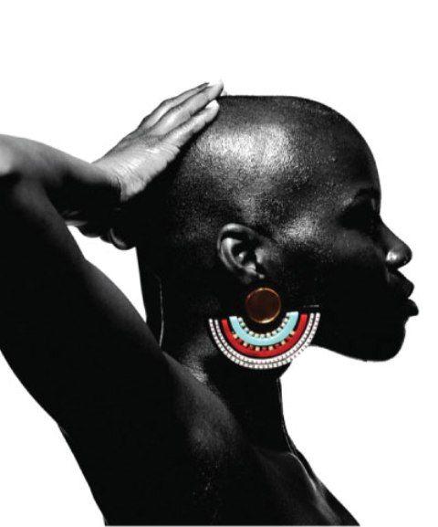 Melody Ehsani Aztec Maasai Earrings