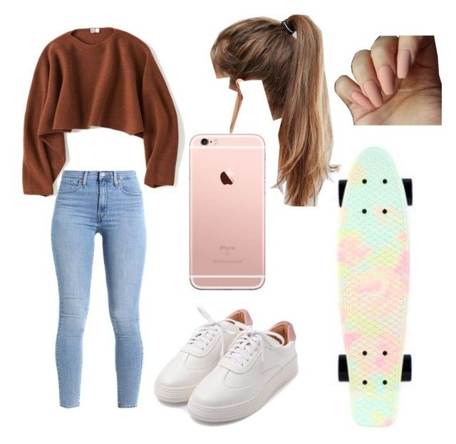 """""""penny board"""" by hannahdallas1 on Polyvore featuring Uniqlo, Penny and NIKE"""