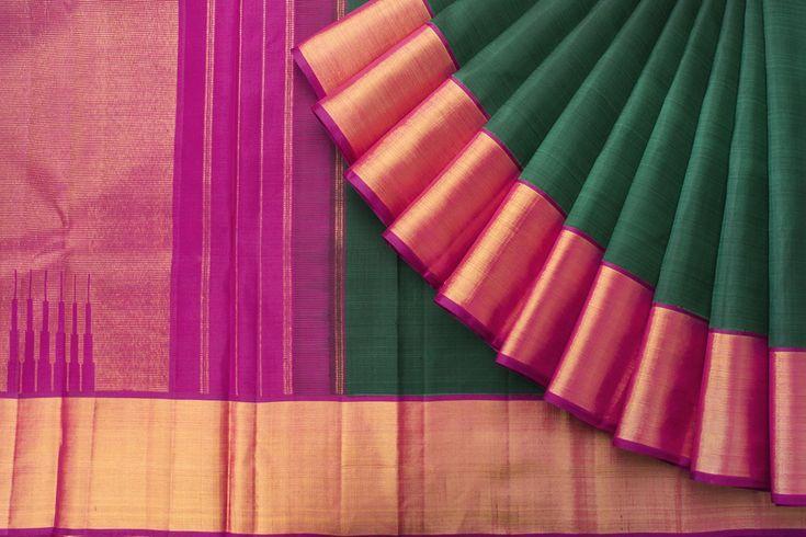 Kanakavalli Handwoven Kanjivaram Silk Sari 1021170 - Sari / Silk Saris - Parisera