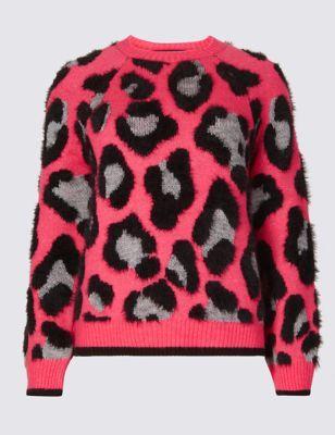 4d0d43e939b482 Animal Print Round Neck Jumper | Outfit Love | Jumper, Fashion, Coat ...