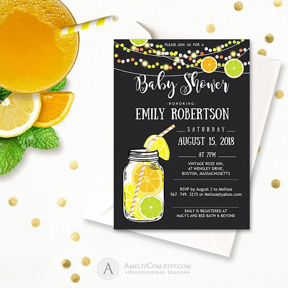 Chalkboard baby shower invitations Mason Jar Baby  Shower https://www.etsy.com/listing/522094075/chalkboard-baby-shower-invitations-mason