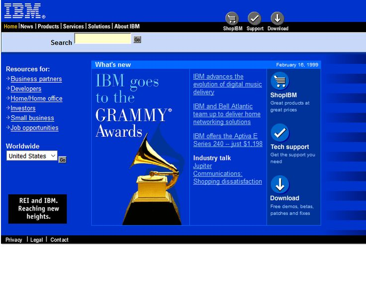 IBM website in 2000