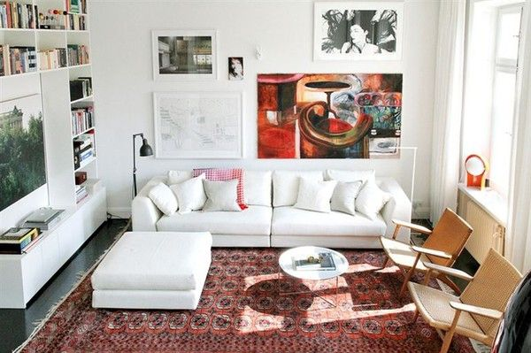 Decor, Living Rooms, Chairs, Livingroom, Interiors Design, Living Room Layout, Rugs, Apartments, White Wall