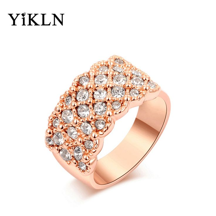 YiLKN Fashion Cocktail Finger Ring Classic Genuine Austrian Crystal Trendy Jewelry Wedding Ring For Women Jewelry L2010016315
