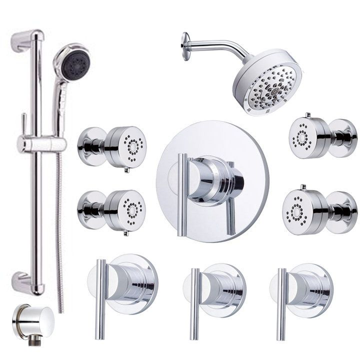 for master bath shower: Shower, Handshower and Valve Trim Combo from the Parma Collection