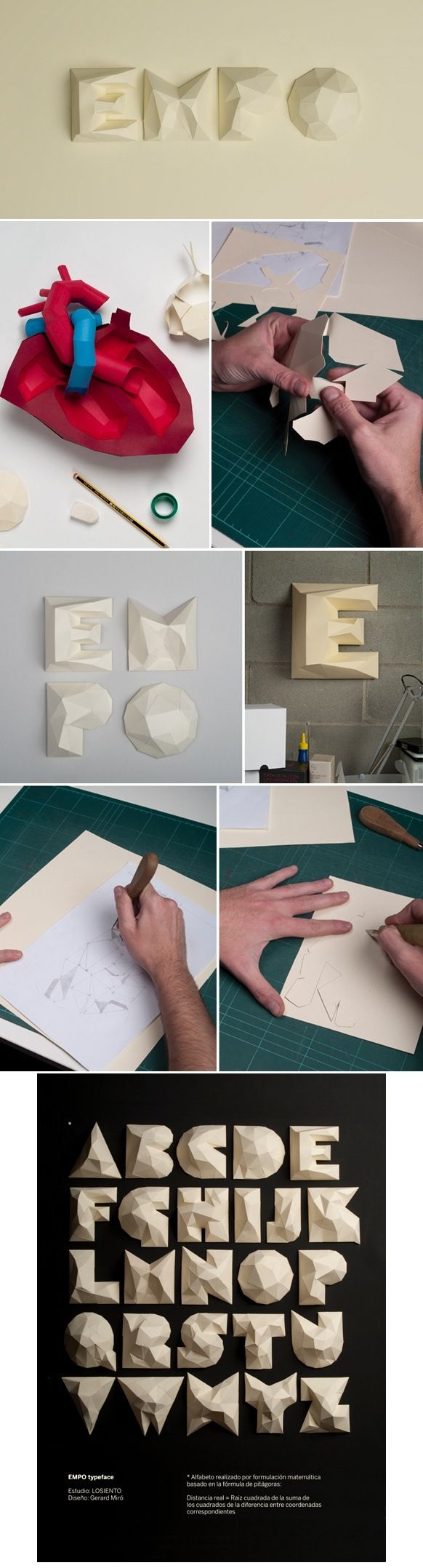 Designer: N/A #typography Found in: Front page The way the cardboard is used to pop out against the background is creative Font used: EMPO (custom)
