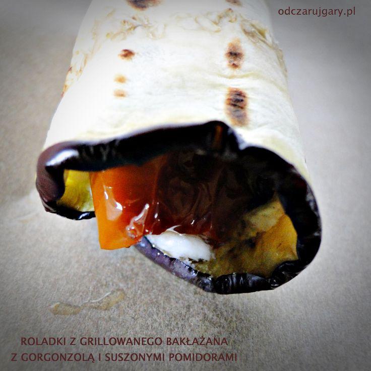Roladki z bakłażana – z serem gorgonzola i suszon …