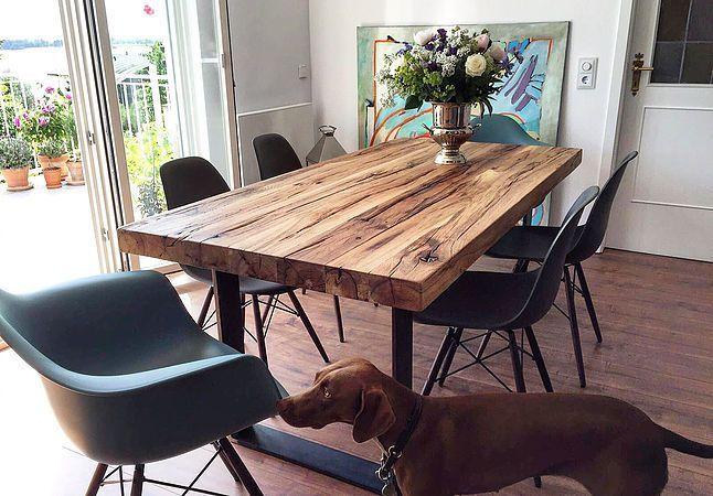 Holztisch Aus Eihenholz Altholz Esstisch Holz Esstisch Massivholz Holztisch Esstisch