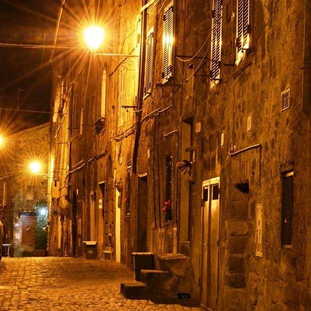 Le luci della notte a Borgo di sopra