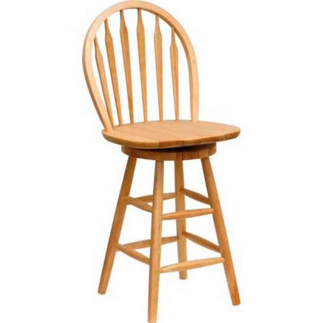 Winsome Wood 24 Inch Windsor Swivel Counter Stool