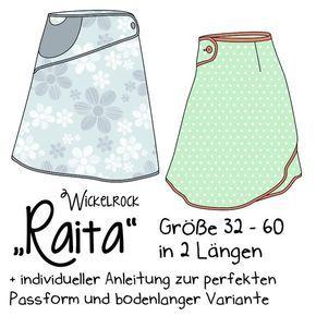 Raita ist ein raffinierter Wickelrock, der durch kontrastfarbenes Schrägband einen tollen Effekt entstehen lässt. Der R...