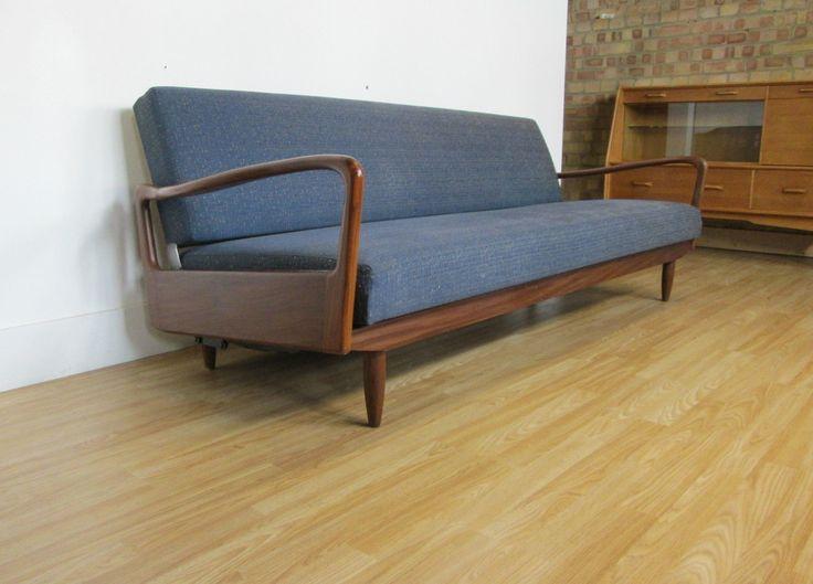 Greaves And Thomas Retro Sofa Bed Danish Style Mid Century