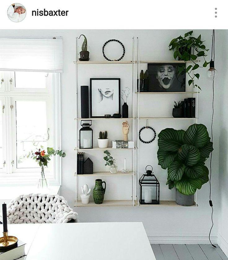 Sostrene Grene shelf in my scandinavian white home. Instagram: nisbaxter