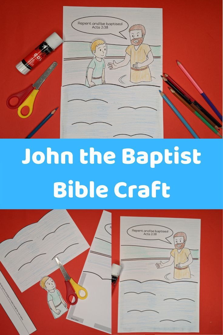 Easy to make John the Baptist kids Bible Craft for sunday ...