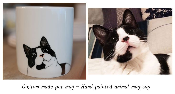 Custom  made pet mug - Hand painted animal mug cup - Personalized mug - Painting dog cat animal pet lover painting unique handmade gift idea by CreativeStoneCera on Etsy https://www.etsy.com/listing/261792123/custom-made-pet-mug-hand-painted-animal