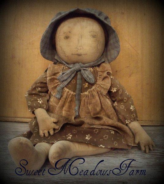EPATTERN Primitive Early Prairie Dolls by SweetMeadowsFarm on Etsy