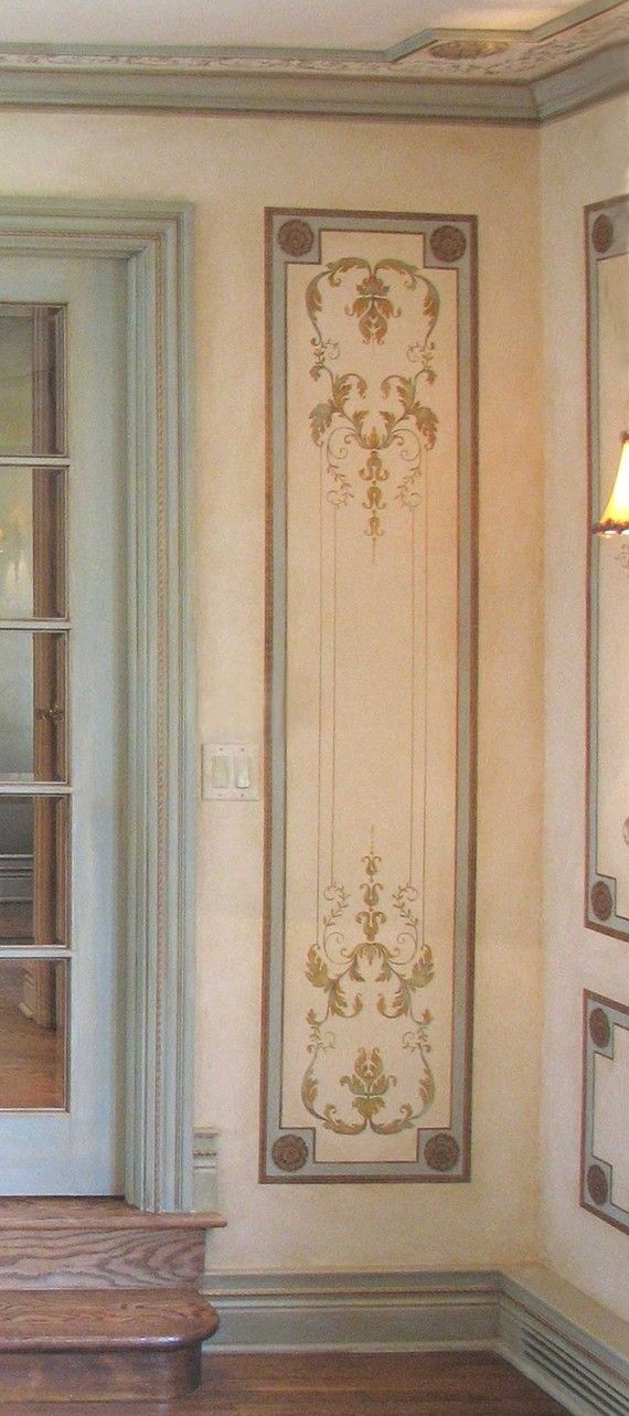 Wall stencil Versailles Side Panel LG by CuttingEdgeStencils