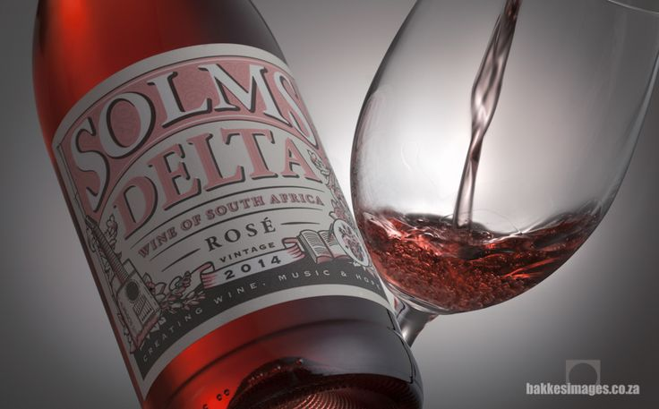 Wine Photography for Marketing & Advertising: Solms Delta Rosé 2014. www.bakkesimages.co.za