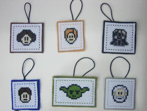 Star Wars cross stitch ornaments