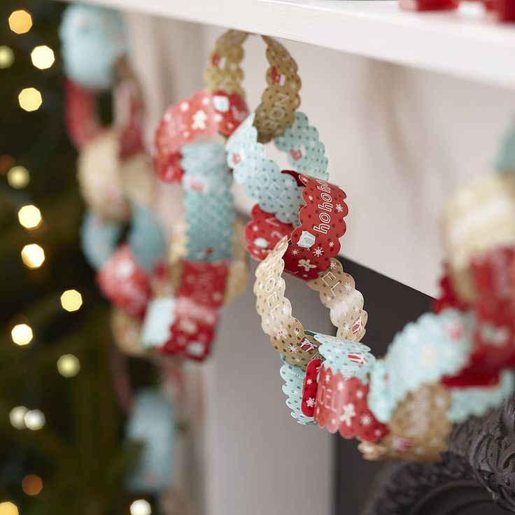 vintage christmas paper chain decorations by ginger ray | notonthehighstreet.com