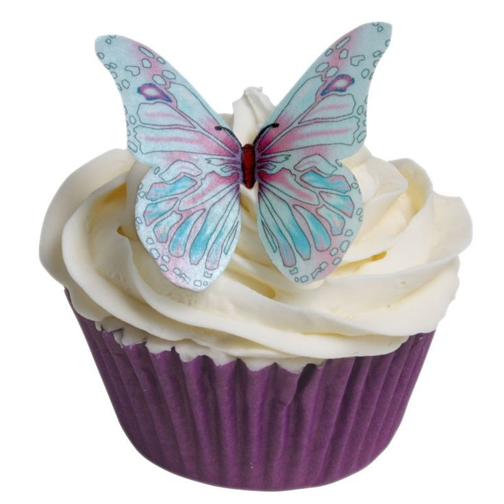 Lovely edible butterfly cake decorations now for sale on www.hollycupcakes.com