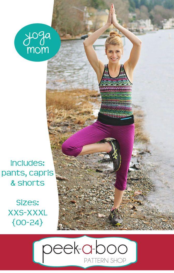 Yoga Mom Pants, Capris,& Shorts - Peek-a-Boo Pattern Shop