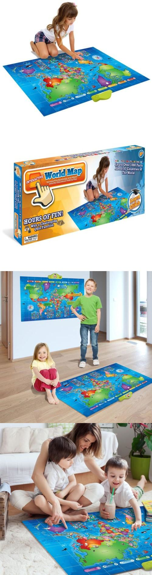 Geography and History 11733: Push-To-Talk Kids World Map - Learn Over 1000 Facts And Quizzes About 92... -> BUY IT NOW ONLY: $61.94 on eBay!