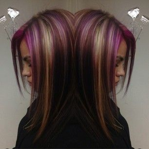 love this #multi color hair